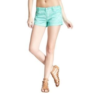 NWT BlankNYC The Tootie Sateen Short in Glow Stick